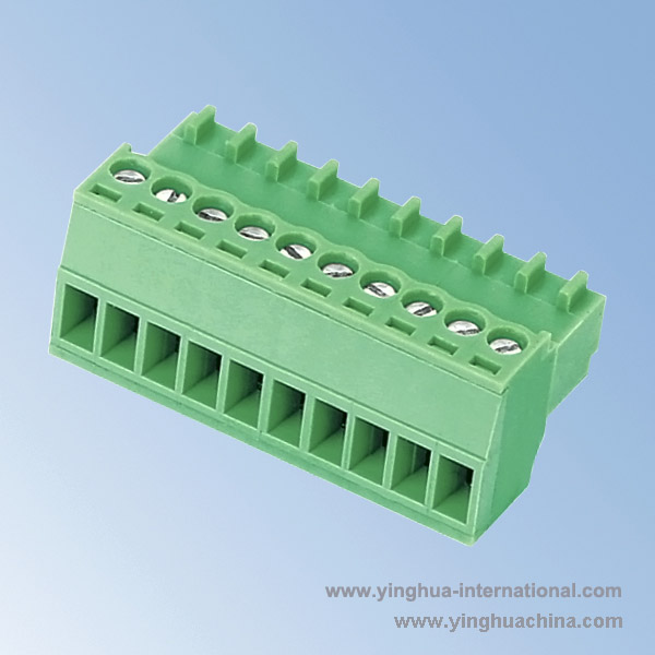 Pluggable terminal block Connector - 2.54 Pitch Female - No. 0961-15EDGY-2.54-2.5/2.54 Pitch ...